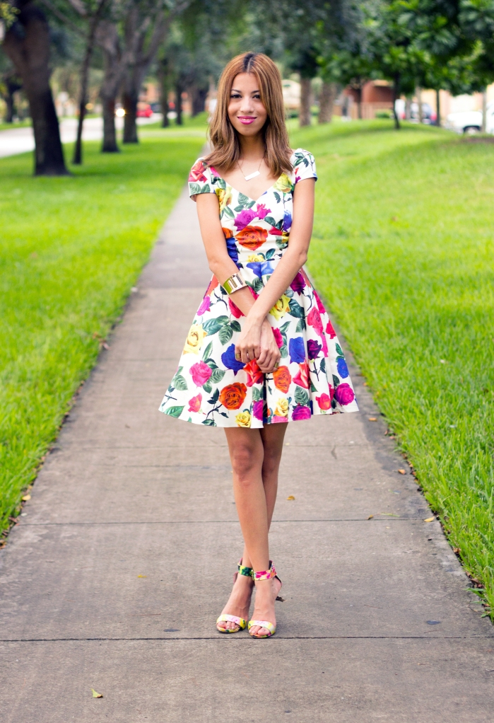 ASOS PETITE Exclusive Bardot Dress in Multi Color Floral. Steve Madden Marlenee Floral 7