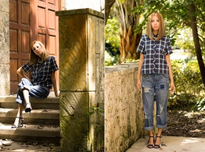 Featured Image Boxed In. Asos Boxy Plaid Collared Shirt.Asos Boyfriend Jeans.4