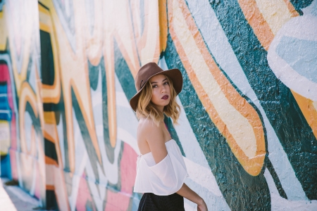 please_dont_tell_shop_white_off_the_shoulder_top_and_brown_target_wide_brim_hat_4